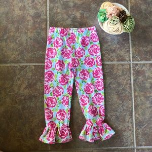 🔵 4/$20 Mud Pie Bell Bottom Floral Pants 12 mo
